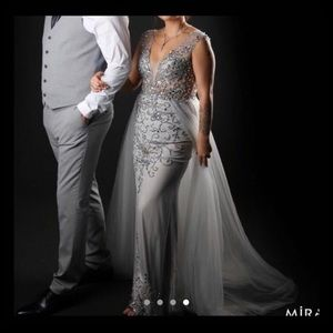 Beautiful Jovani Grey Gown